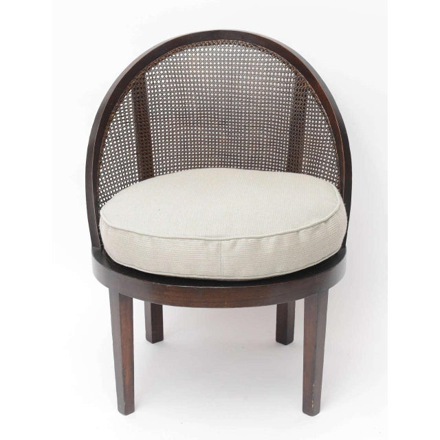 Distinctive Mahogany Cane Back Chair For Sale - Image 9 of 10