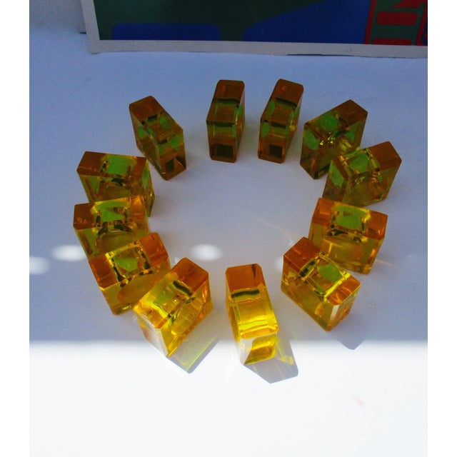 Thick Orange Lucite Napkin Rings - Set 12 - Image 6 of 11