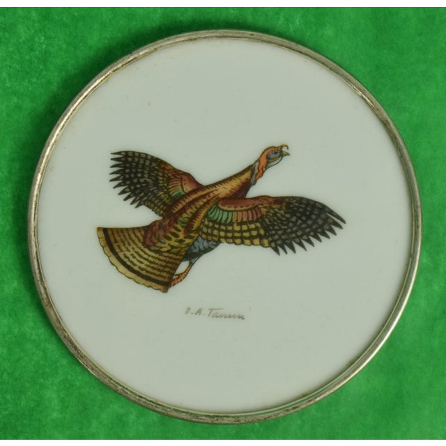 Country 1950s Vintage Abercrombie & Fitch Game Bird Coasters - Set of 4 For Sale - Image 3 of 7