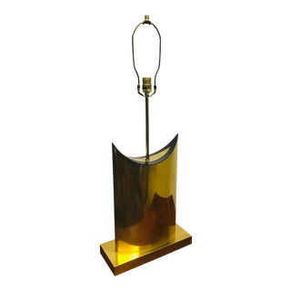 C. Jere Brass Table Lamp Mid Century Brutalist For Sale
