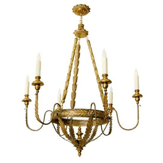 Randy Esada Designs for Prospr Elegant Milano Italian Six Arm Chandelier by Randy Esada Designs Inc For Sale - Image 4 of 5