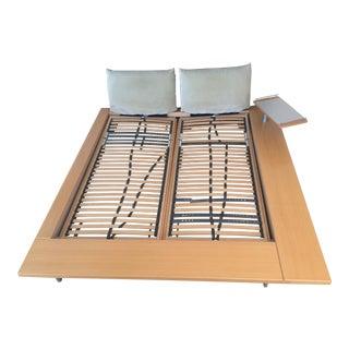 Peyer Maly 1 Birch & Silver Euro King Platform Bed