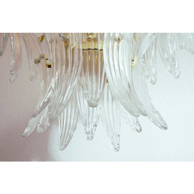 Gold Tropicana Palmette Chandelier by Fabio Ltd For Sale - Image 8 of 11