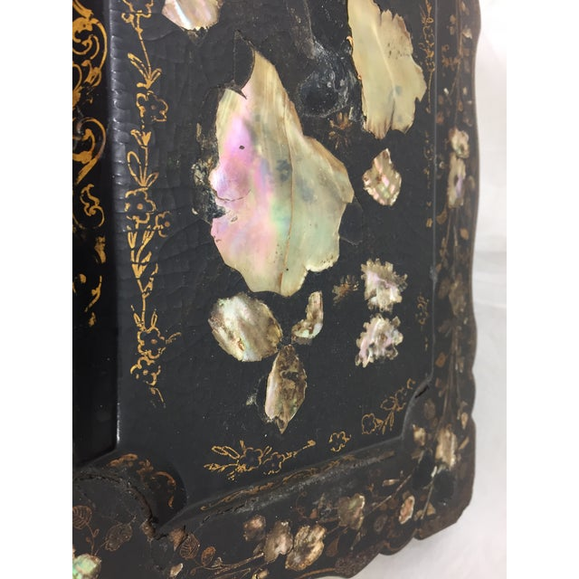 Antique Mother of Pearl Chinoiserie Box For Sale - Image 9 of 11