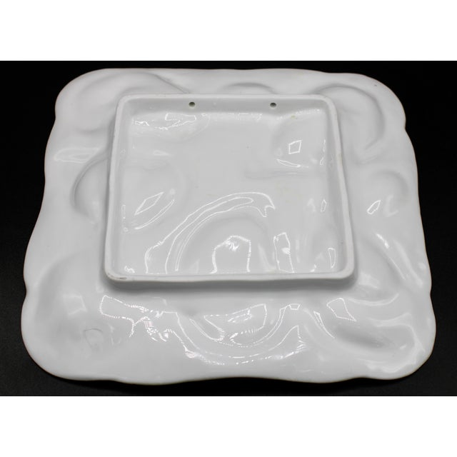 Ceramic 1960s Mint Green Oyster Plate For Sale - Image 7 of 11