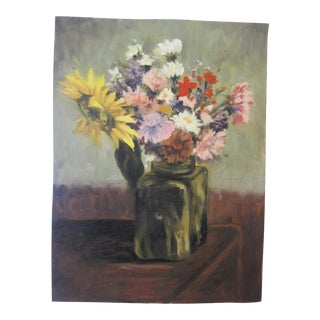 """Flowers"" Expressive Still Life Oil Painting"