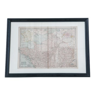 Antique Hand-Colored Northern France Map