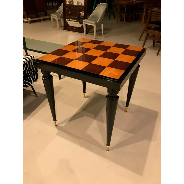 Art Deco 1940s French Art Deco Ebony Game Table or Centre Table For Sale - Image 3 of 11