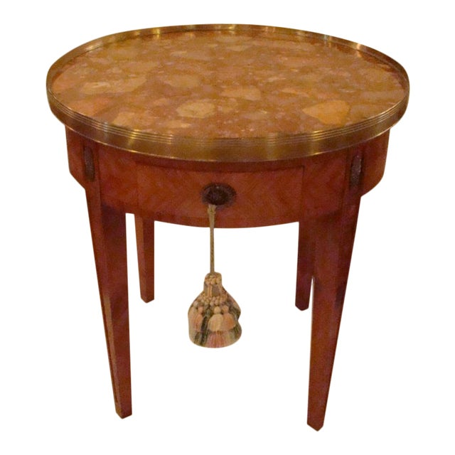 French Louis XVI Style Bouillotte Table - Image 1 of 11