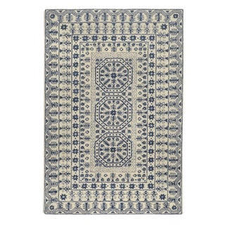8'x11' Surya Smithsonian Rug in Blue and Ivory For Sale