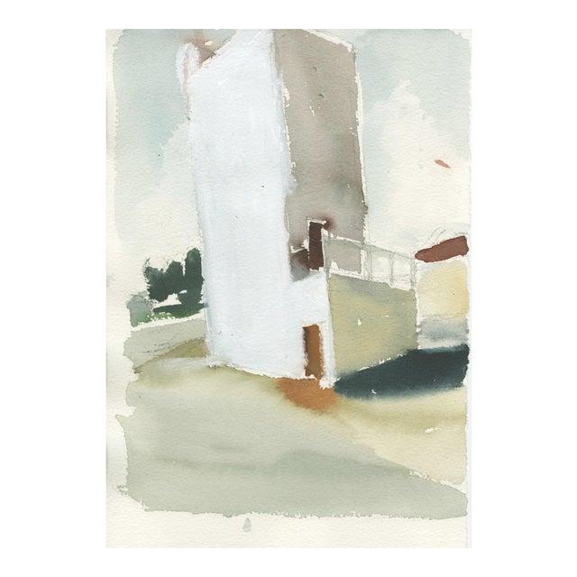 "Ferdinanda Florence ""VFD #3"" Industrial Landscape Watercolor Painting on Paper For Sale"