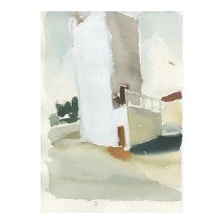 Ferdinanda Florence, Vfd #3, Watercolor on Paper, Unframed, Industrial Landscape, California Artist For Sale