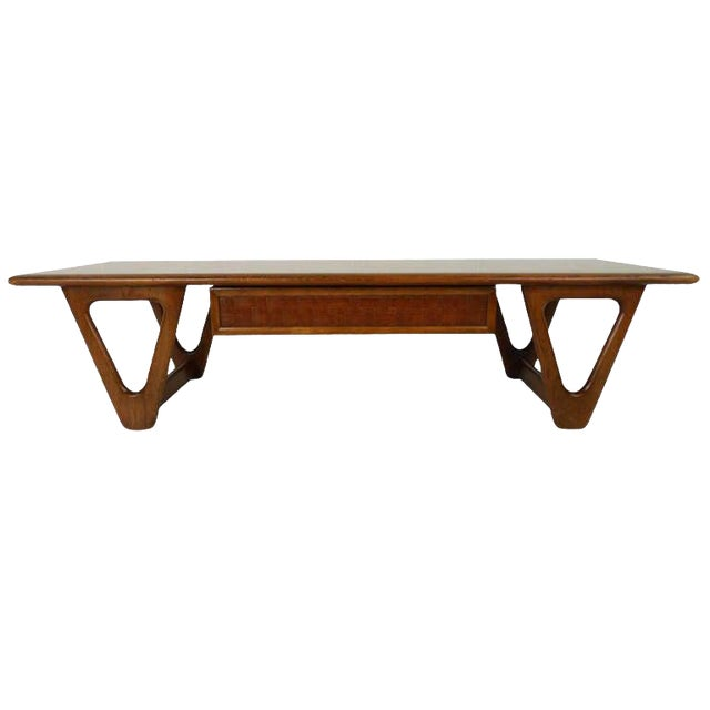 Vintage Walnut Coffee Table by Warren Church for Lane For Sale