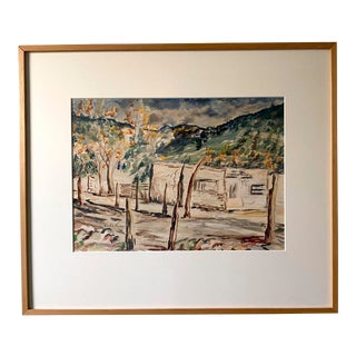 Original Landscape of Taos, New Mexico, Early 20th Century, Signed Vesta Kiker For Sale