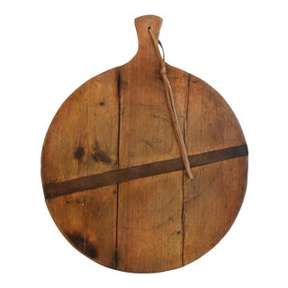 Antique Pine French Charcuterie Bread Cheese Serving Board For Sale