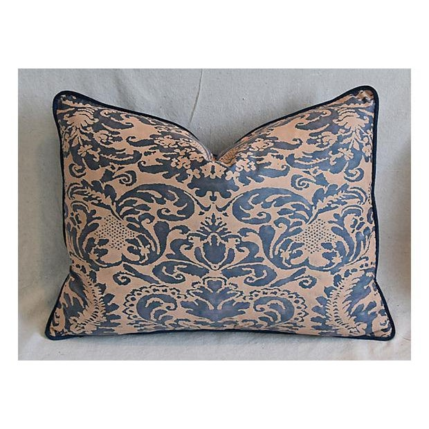 "Italian Mariano Fortuny Corone Feather/Down Pillows 24"" x 18"" - Pair For Sale - Image 9 of 11"