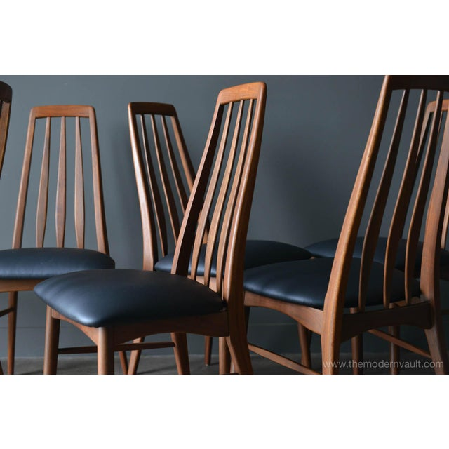 """Mid-Century Modern 1960s Vintage Koefoed of Denmark Walnut High Back """"Eva"""" Dining Chairs - Set of 8 For Sale - Image 3 of 12"""