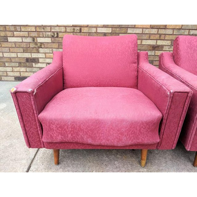 Wood 1960s Mid Century Modern Lawrence Peabody Style Lounge Chairs - a Pair For Sale - Image 7 of 10