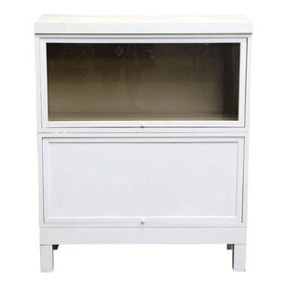 Vintage White Steel Barrister Bookcase