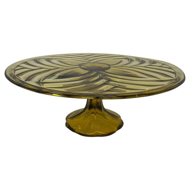 Olive Glass Patisserie Stand For Sale In Houston - Image 6 of 6