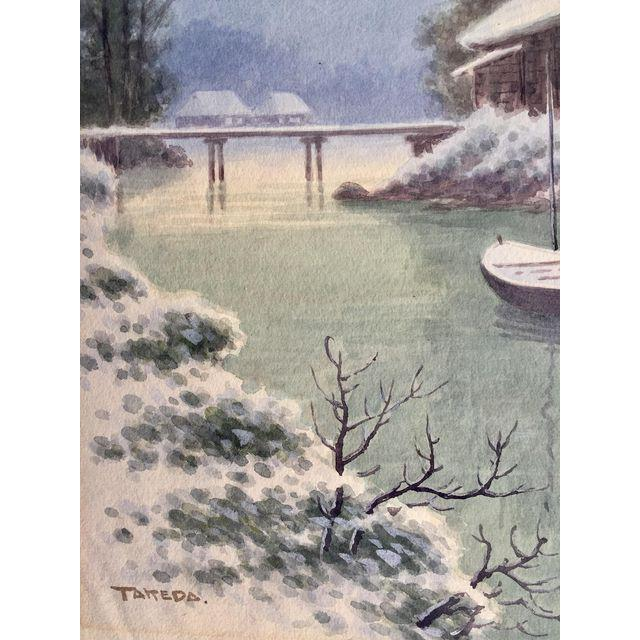 Japanese Landscape Watercolor Painting - Image 8 of 9