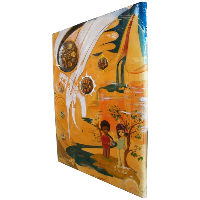"""""""""""""""Enameled Flavor"""""""" mixed media, glass, resin and oil on wood, surrealism / expressionism. This piece was exhibited in..."""