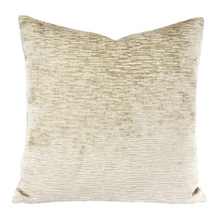 Pindler Foreland in Dove Texture Chenille Pillow Cover For Sale