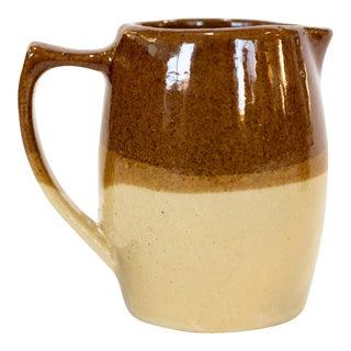 Antique 1970s Brown Ceramic Pitcher For Sale