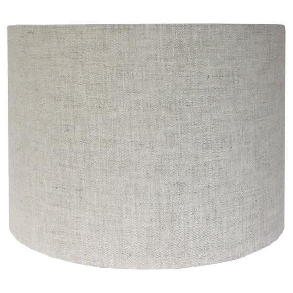 """DETAILS: - New, custom, handcrafted lampshade - Fabric: Natural Linen - Fitting: Brass washer/spider with 1/2"""" drop. -..."""