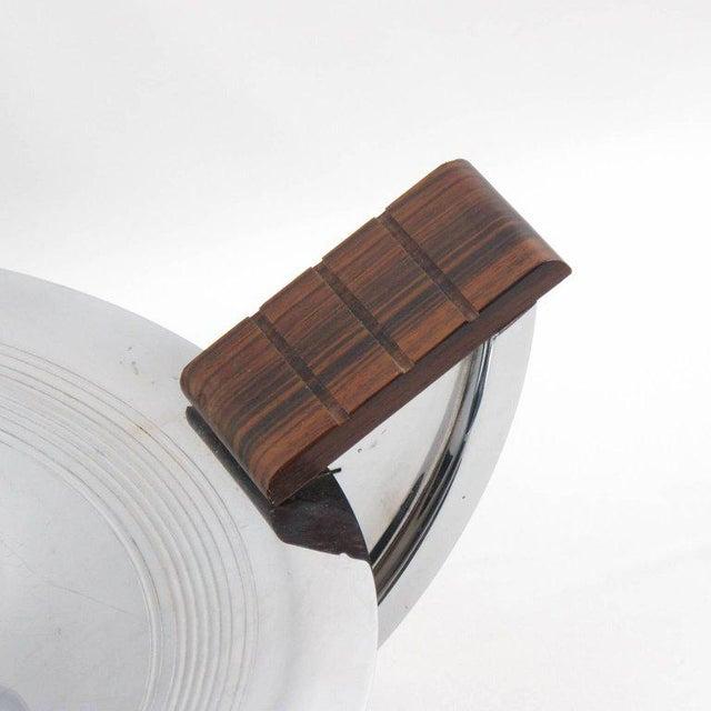 French Massabova Art Deco Chrome Macassar Centerpiece Bowl - Image 6 of 11