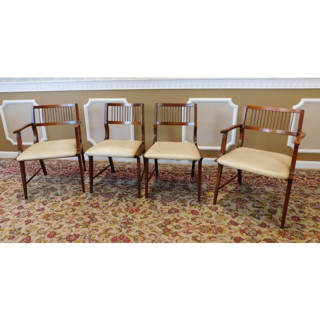 Vintage Lane Furniture Walnut Dining Chairs - Set of 4 - Image 9 of 11