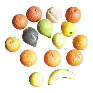 Italian Miniature Stone Fruit- Set of 15 For Sale