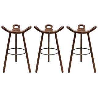 "1970s Vintage Confonorm Brutalist ""Marbella"" Bar Stools- Set of 3 For Sale"