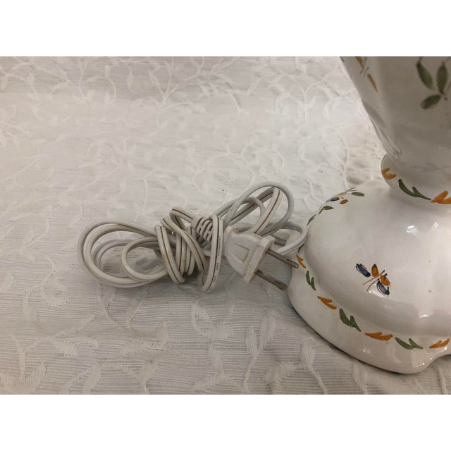 Ceramic 1980s Vintage French Moustiers France Hand Painted Faience Signed Table Lamp For Sale - Image 7 of 11