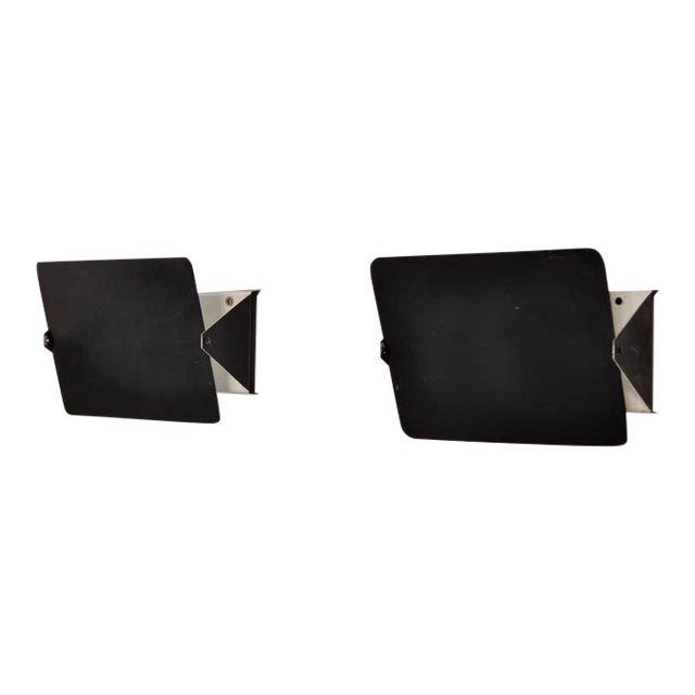 Pair of Charlotte Perriand CP1 Wall Sconces for Steph Simon, France, circa 1960 - Image 1 of 7