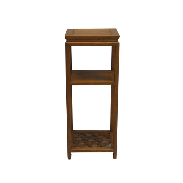 Asian Chinese Tall Icicle Accent Table For Sale - Image 3 of 4