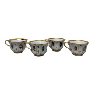 Copenhagen Porcelain Tea Cups - Set of 4 For Sale