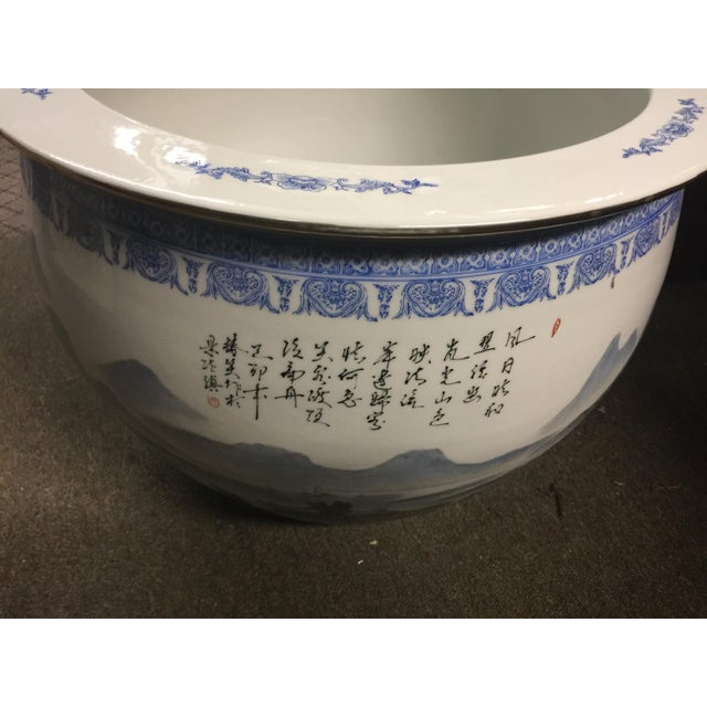 Chinese Fish Bowl Jardiniere For Sale - Image 9 of 10