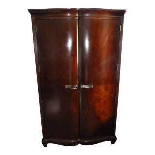 Art Deco Bernhardt Armoire With Shelves and Drawers For Sale