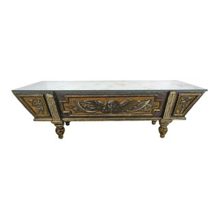 19th Century Italian Painted Coffee Table with Mirrored Top For Sale