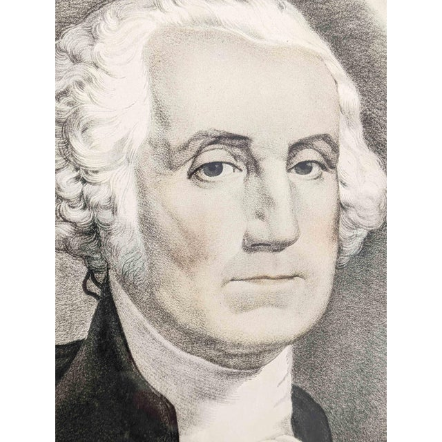 Mid 20th Century Vintage Portrait Print of George Washington by Currier and Ives For Sale - Image 5 of 6