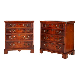 Pair of Georgian Fold Over Top Bachelor Chests For Sale