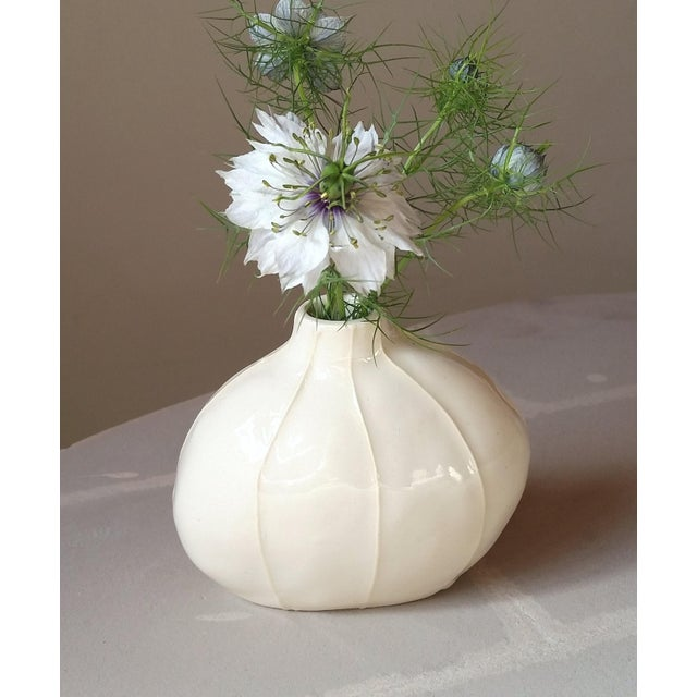 Contemporary White Bud Vases - Set of 3 For Sale In Seattle - Image 6 of 9