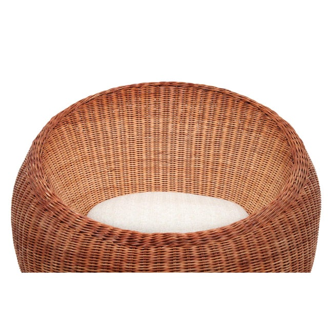 Wood Isamu Kenmochi Rattan Lounge Chair For Sale - Image 7 of 13