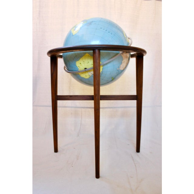 Large standing library globe by A.J. Nystrom & Co., circa 1968. In excellent condition, with very little wear, this globe...