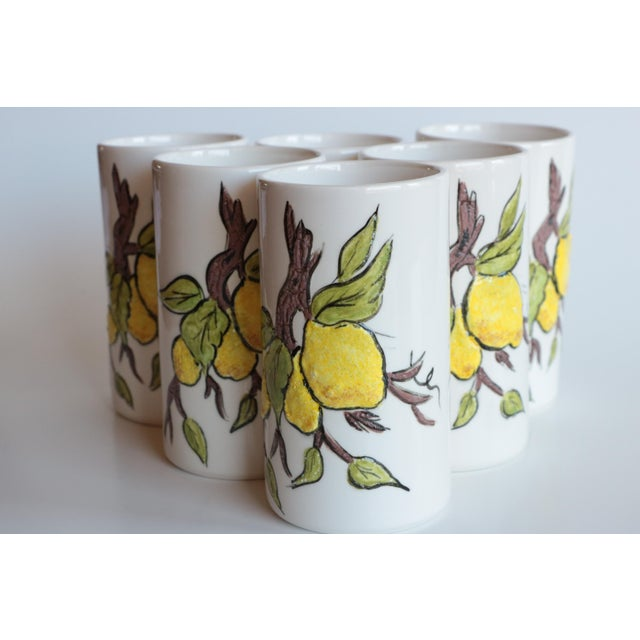 Lemon Branch Pitcher and Tumblers - Set of 6 For Sale - Image 4 of 11