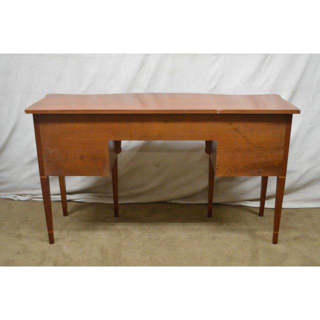 1990s Statton Cherry Federal Style Serpentine Inlaid Sideboard For Sale - Image 5 of 13