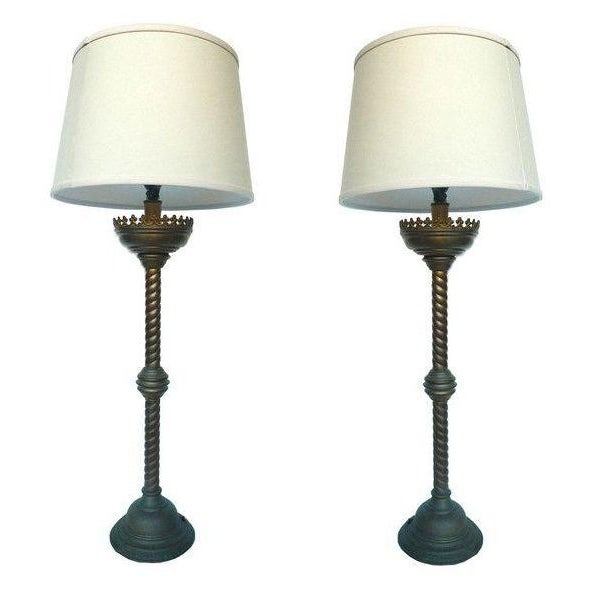19th Century Altar Stick Lamps - A Pair - Image 1 of 4