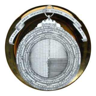 Piero Fornasetti Astrolabe Plate, Number Twelve in Astrolabio Series