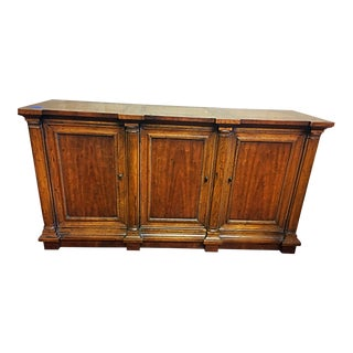 Heritage Traditional Wood Buffet Credenza For Sale